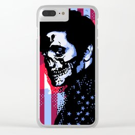 EVIL ELVIS Clear iPhone Case