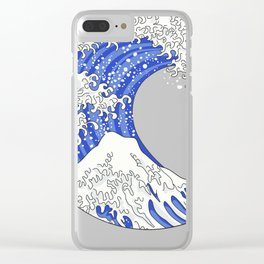 Great Blue Wave Clear iPhone Case