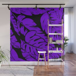 PALM LEAF PURPLE Wall Mural