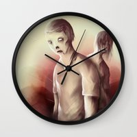 zombies Wall Clocks featuring Zombies by Jacques Marcotte