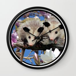 Playing Possum Wall Clock