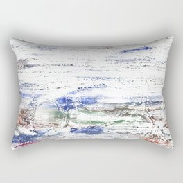 Multicolored clouded wash drawing painting Rectangular Pillow