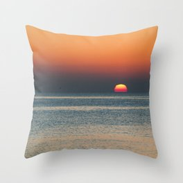 Barcelona sunrise  Throw Pillow