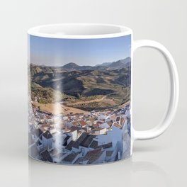 Panoramic View of a white town in Andalusia Coffee Mug