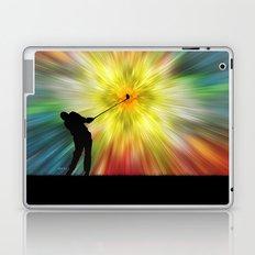 Tie Dye Silhouette Golfer Laptop & iPad Skin