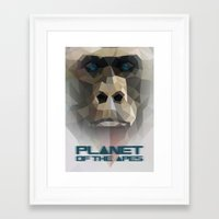 ape Framed Art Prints featuring ape by muszka