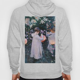 Carnation, Lily, Lily, Rose - John Singer Sargent Hoody