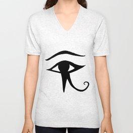 JAMILA logo ~ Eye of Horus Unisex V-Neck