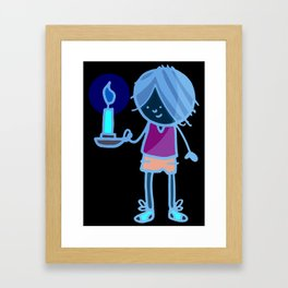 Boy with Candle Framed Art Print