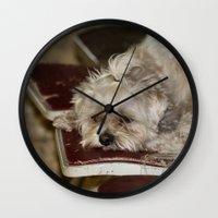 teddy bear Wall Clocks featuring Teddy Bear by IowaShots