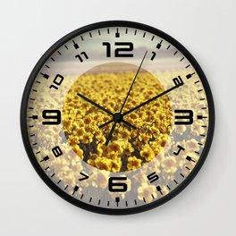 Narcissus field #2 Wall Clock