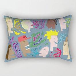 Everyones Talking Rectangular Pillow