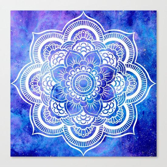 Mandala Blue Lavender Galaxy Canvas Print