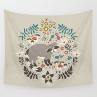 totes Wall Tapestries featuring Little Rascals (Light) by Anna Deegan