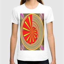 spinning abstraction T-shirt