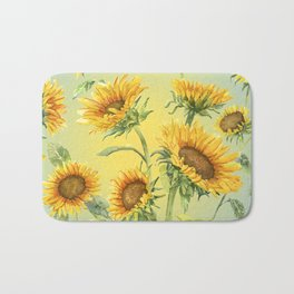 Sunflowers 2 Bath Mat