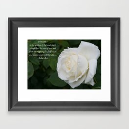 Garden Of Thy Heart Framed Art Print