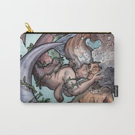 Old lady mermaids smooching Carry-All Pouch