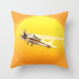 Bright Yellow Sun Throw Pillow