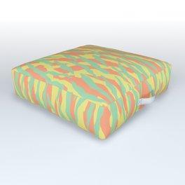 Zebra animal pattern in summer palette Outdoor Floor Cushion
