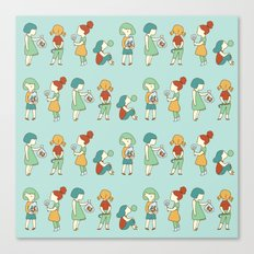 Candy girls Canvas Print
