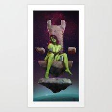 Gamora of Thrones Art Print