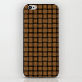 Small Brown Weave iPhone Skin