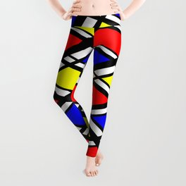 Curved Modern Art Pattern Leggings