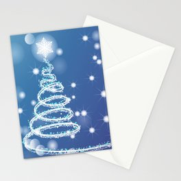 Christmas background with bokeh and snowflake Stationery Cards