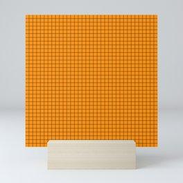 Orange Grid Black Line Mini Art Print