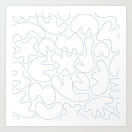 Blob Collage - Line Art Print