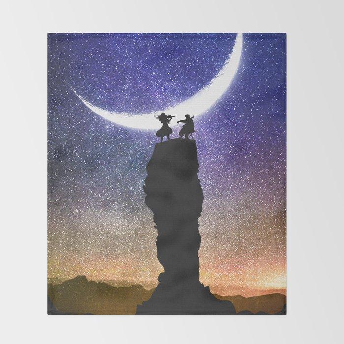 A Sonata at Nightfall Throw Blanket