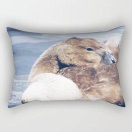 Sleepy Cygnet Rectangular Pillow
