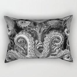 The Kraken (Black & White - No Text) Rectangular Pillow