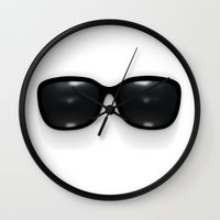 sunglasses Wall Clocks featuring sunglasses by Vadim Ivanchin