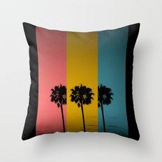 Vintage Palm Tree Throw Pillow