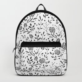 Fresh Floral - Black Backpack
