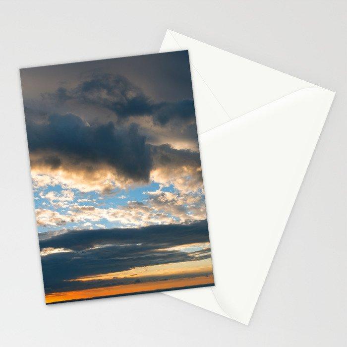 Vibrant Sunrise Cloudscape Stationery Cards