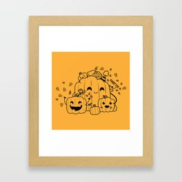 Jack o Lantern Party Framed Art Print