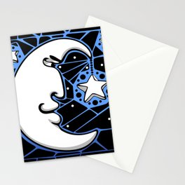 Moon and Stars Trellis Stationery Cards
