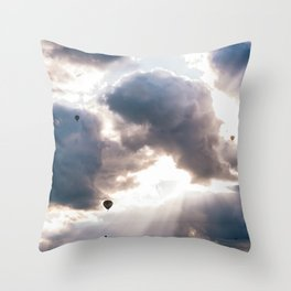 Hot Air Ballon Festival Sunrise Throw Pillow