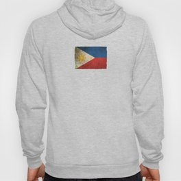 Old and Worn Distressed Vintage Flag of Philippines Hoody