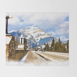 Cascade Mountain - Banff  Alberta Canada Throw Blanket