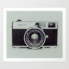 Film Camera Love: Canon Art Print