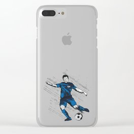 US USA America Hand drawn Soccer Player Futbol product Gift Clear iPhone Case