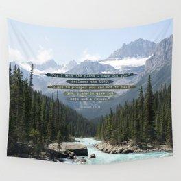 Jeremiah 29:11 Canadian Rockies Wall Tapestry