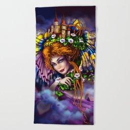 Fairy love and magic Beach Towel