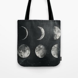 Watercolor moon phases Tote Bag