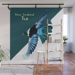 New Zealand Birds - The Tui Wall Mural