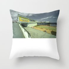 Paignton Pier   fun for all Throw Pillow